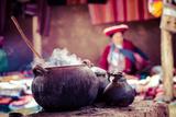 Traditional Village in Peru, South America. Fotografie-Druck von Mariusz Prusaczyk