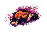Violin Prints by  okalinichenko