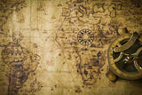Old Map with Compass Photographic Print by  meen_na