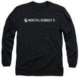 Long Sleeve: Mortal Kombat X - Horizontal Logo Long Sleeves