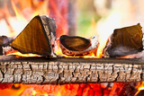 Firewood Burning in the Brazier Photographic Print by  mars58