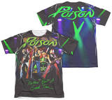 Poison - Good Time Live (Front - Back Print) T-shirts