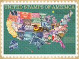 United Stamps of America 1000 Piece Puzzle Jigsaw Puzzle