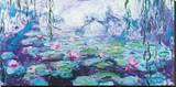 Wasserlilien Bedruckte aufgespannte Leinwand von Claude Monet
