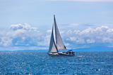 Recreational Yacht at Adriatic Sea Photographic Print by  dvoevnore