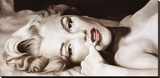 Reclined Marilyn Stretched Canvas Print by Frank Ritter