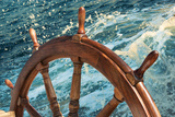Steering Wheel of Old Sailing Vessel Photographic Print by  frog-travel