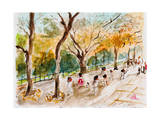 Watercolor Forest Garden Prints by  jim80
