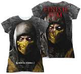 Juniors: Mortal Kombat X - Finish Him (Front - Back Print) Shirts