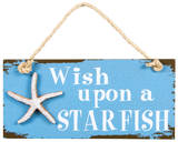 Starfish Wish Wood Sign