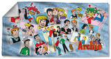 Archie - Panels Beach Towel Beach Towel