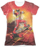 Juniors: Power Rangers - Skater T-Shirt