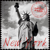 New York Stamp Giclee Print by  The Vintage Collection