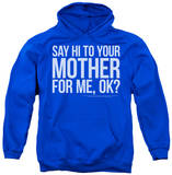 Hoodie: Saturday Night Live - Hi Mother Pullover Hoodie