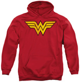 Hoodie: DC Comics - Wonder Woman Logo Distressed Pullover Hoodie