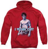 Hoodie: Bruce Lee - Lee Works Out Pullover Hoodie