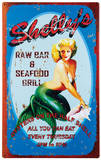 Shelly's Bar Tin Sign