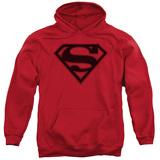 Hoodie: Superman - Red & Black Shield Pullover Hoodie