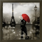 Paris Romance Framed Giclee Print by Kate Carrigan
