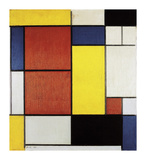 Composition II, 1920 Premium Giclee Print by Piet Mondrian
