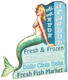 Retro Mermaid Ad Tin Sign