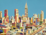 Harry's New York Collage Giclee Print by Andy Burgess