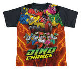 Youth: Power Rangers - Zord Power Black Back T-shirts