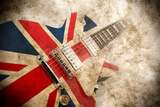 Grunge British Pop Guitar Photographic Print by MIGUEL GARCIA SAAVED