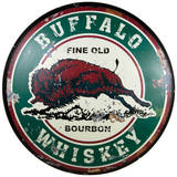Buffalo Whiskey Dome Sign Placa de lata