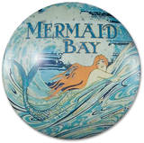 Mermaid Bay Dome Sign Tin Sign