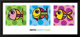 Happy Fish Art by Romero Britto