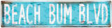 Beach Bum Blvd. Tin Sign