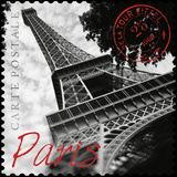 Paris Stamp Giclee Print