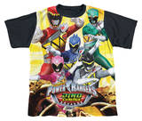 Youth: Power Rangers - Charged For Battle Black Back T-Shirt