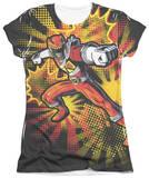 Juniors: Power Rangers - Red Ranger Burst T-shirts