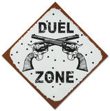 Duel Zone Tin Sign