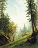Among the Bernese Alps Giclée-tryk af Albert Bierstadt