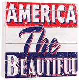 America the Beautiful Wood Sign