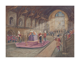 The Laying In State of Her Majesty the Queen Mother Premium Giclee Print by John King