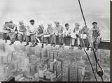 Lunch bovenop een wolkenkrabber, ca.1932 Kunstdruk op gespannen doek van Charles C. Ebbets