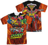 Power Rangers - Zord Power (Front - Back Print) T-Shirt