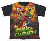 Youth: Power Rangers - Hashtag Black Back T-shirts