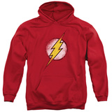Hoodie: Justice League - Destroyed Flash Logo Pullover Hoodie
