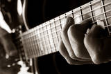 Playing Jazz Guitar Photographic Print by MIGUEL GARCIA SAAVED