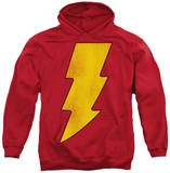 Hoodie: DC Comics - Shazam Logo Distressed Pullover Hoodie