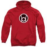 Hoodie: Green Lantern - Red Lantern Logo Pullover Hoodie