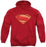Hoodie: Superman - Man of Steel New Solid Shield Pullover Hoodie