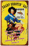 Rodeo Gal Tin Sign