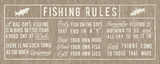 Fishing Rules Panel Posters af  The Vintage Collection