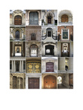Doors Synthesized Giclee Print by Mary Karla
